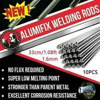10Pcs/Set 1.6MM Hot Aluminum Solder Melt Welding Flux Cored Rods Wire Brazing~