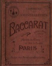 Cristal Baccarat, Rare catalogue 1903-1904 spécial Eclairage 185 pages en PDF
