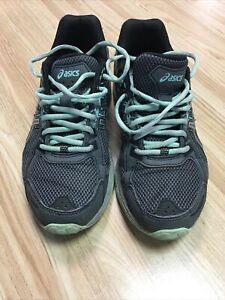 ASICS GEL-Venture 6  Casual Running Trail Shoes Women's Size 7.5 Green/Gray