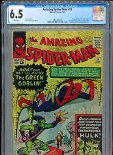 1964 MARVEL AMAZING SPIDER-MAN #14 1ST APPEARANCE GREEN GOBLIN CGC 6.5 WHITE