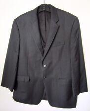 Mens Brooks Brothers Black Stripe 2 Button Brooksease Suit Size 44R Excellent Co