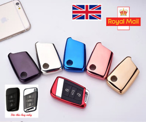 Soft TPU Key Case Cover-Keyless for Skoda Superb III, VW Passat B8, Golf