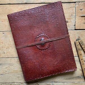 "13"" Vintage Leather Journal Sketchbook Scrapbook Diary Notebook Glitter Stone"