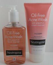 Neutrogena Oil-Free Acne Wash Pink Grapefruit Cream & Liquid Face Cleaner~Unisex