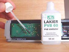 PVB 60 Varnish- Transparent, Prevent PCBs Against Corrosion - 50ml + brush