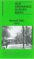 OLD ORDNANCE SURVEY MAP WALSALL NE 1913 DUNCALFE STREET WALHOUSE STREET RYECROFT