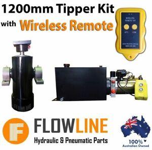 Hydraulic Ram / Cylinder with Hydraulic Power pack - Tipper Trailer Kit- 1200 mm