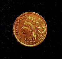 *MAKE-A-$344 OFFER*= 1898 RED INDIAN HEAD PENNY RARE *FULL LIBERTY~4 DIAMOND*#9Q