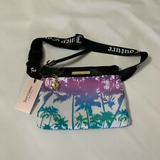 Juicy Couture Malibu Sunset Fanny Pack Belt Bag Rainbow Palm Print NEW WITH TAGS
