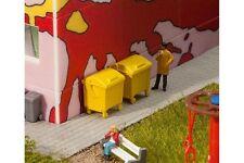 Faller 180913 2 Conteneurs à ordures jaunes - 2 Yellow garbage bins