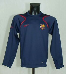 BOYS BARCELONA TRAINING FOOTBALL TOP LONG SLEEVE  SIZE 12-13 Years EXCL //