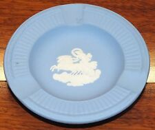 "Vintage Blue Wedgwood Chariot Decorative 4 1/2"" Plate / Jasper-Ware Ashtray!"
