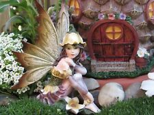 "Fairy Garden Miniature 4"" fairy figurine with flower hat Fairy Only! New In Box"