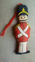 Vintage Christmas Nutcracker Toy Soldier Pillow Ornament • Pre-owned • Very cute