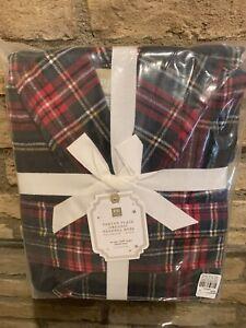 Pottery Barn Tartan PLAID Bath Robe One Size Fits All Teen Christmas Gift New