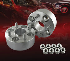 "2pc 50mm (2"") Thick 4x114.3 Hub Centric Wheel Adapters Spacers M12x1.25 66.1mm"