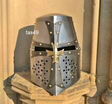 Collectible Crusader Costume Armor Helmet  Medieval Knight Templar Helmet