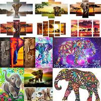 5pcs/set Elephant 5D DIY Full Drill Diamond Painting Cross Stitch Kit Embroidery