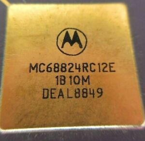 Motorola MC68824RC12E GOLD Plated legs & cap Date Code: DEAL8849 Country: U.S.A.