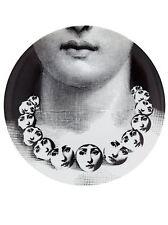 Rare Fornasetti LINA Face Necklace PLATE Piero Fornasetti NIB