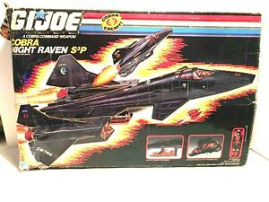 GI JOE COBRA NIGHT RAVEN S3P Vintage Figure Vehicle Jet COMPLETE w/BOX 1986