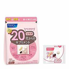 FANCL Supplement from 20's For Women 30day collagen Q10 Astaxanthin DHA Calcium