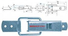 Spannverschluss Kistenverschluss  Nietloch Ø 5,0 mm Stahl verz. mit Gegenhaken