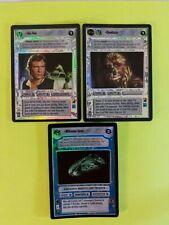 Star Wars CCG Han Solo & Chewbacca & Millennium Falcon Foil reflections