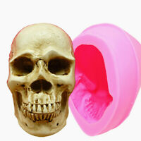 3D Skull Silicone Mold Cake Mold Resin Gypsum Chocolate Candle Candy Mold