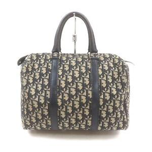 Christian Dior Hand Bag  Navy Blue Canvas 1525963