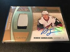 2015-16 FLEER SHOWCASE HOT PROSPECTS HENRIK SAMEULSSON ROOKIE CARD AUTOGRAPH