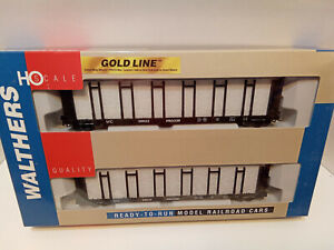 Walthers gold Line Pulp Wood Flat Car 2Pack Wisconsin Central HO Freight 9323159