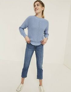 Fat Face Ladies Sky Blue Ivy Jumper Size UK 20 100% Cotton New With Tags