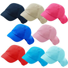 Childs Boys Girls Plain Cotton Legionnaires Summer Sun Hat Cap 2-6yrs Colours