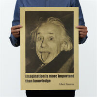 einstein posters wall stickers imagination is more important than knowledge FJ