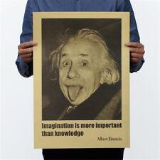 Einstein Poster Wandaufkleber Phantasie ist wichtiger als wissen