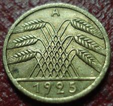 1925-A GERMANY 5 PFENNIG IN AU CONDITION (REICHSPFENNIG)
