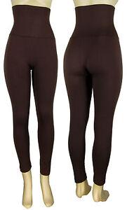 Women Slim High Waist Tummy Control Compression Body Shaper Fleece Leggings