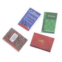 Dollhouse Miniature Mini Book Paper Notebook Magazine Home Decor Gift Rand SI