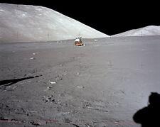Apollo 17 Astronaut Shadow & Lm On Moon 8x10 Silber Halogen Fotodruck