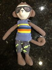 PBK Pottery Barn Kids cute RARE monkey in swimsuit goggles plush 12""