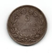 RARE 5.Francs 1831 MA  L.PH.T.LAUREE.TR en CREUX G.677 (50.635 ex)