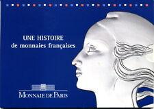 France : a FRENCH COINS HISTORY - 8 coins - BU set  from La Monnaie de Paris