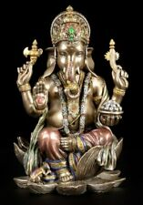 Rare Lord Ganesh Ganesha Beautiful Cold Cast Bronze Statue Hindu God .Great.