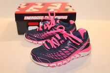Fila Girl's Navy Blue & Pink Dashtech Energized Athletic Shoes Girl Size 11 NEW