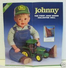 Danbury Mint Johnny first John Deere porcelain Doll Toy Tractor Work Boots NRFB