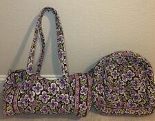Vera Bradley Purple Flowers Pun Backpack and Duffel Bag Set of 2