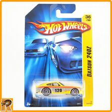 Hot Wheels - Datsun 240z - Yellow *Paint Error* - 2007 Yellow Stripe Card -67