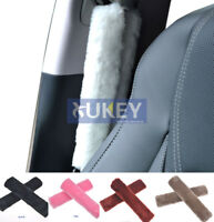 Fluffy Fur Furry Car Seatbelt Seat Belt Cover Velvet Harness Shoulder Pads Baby