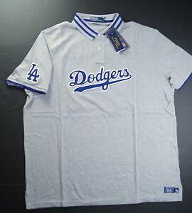 POLO RALPH LAUREN Men's MLB Collection Dodgers LA Polo Shirts Grey size XL NWT
